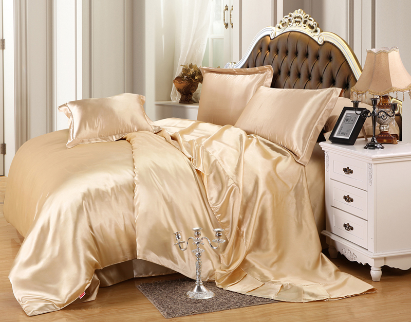 Luxury Silk Blend Twin Queen King Size Duvet Cover