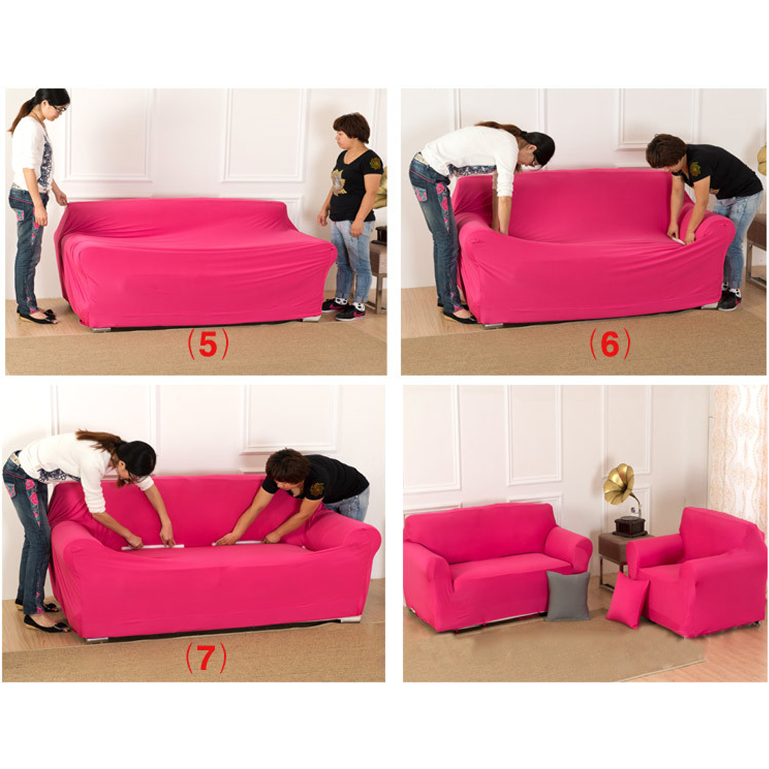Sofa Stretch Covers: L Shaped Stretch Sofa Cover For 1 2 3 Seater Couch