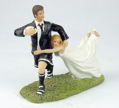 rugby wedding cake toppers uk groom running rugby figurine wedding cake 19469