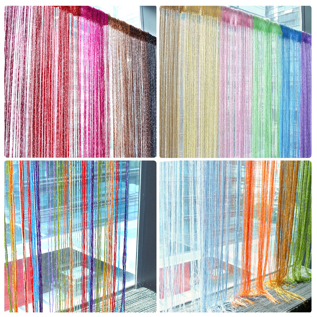 Glitter String Curtain Panels Fly Screen Amp Room Divider